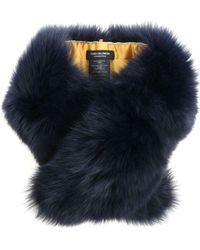 Yves Salomon - Melange Dark Blue Fur Neck Warmer - Lyst