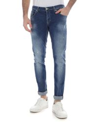 Dondup - Ritchie Blue Destroyed Jeans - Lyst