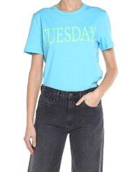 Alberta Ferretti - Turquoise Tuesday T-shirt - Lyst