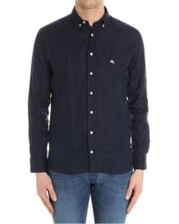 Etro - Blue Andy Shirt - Lyst