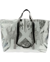 Off-White c/o Virgil Abloh - Tote New Commercial Bag In Silver Color - Lyst
