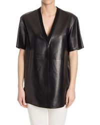 Givenchy - Leather Top - Lyst