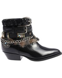 Philosophy Di Lorenzo Serafini - Black Ankle Boots With Straps - Lyst