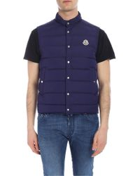 d7df590ac Lyst - Moncler Febe Quilted Nylon Vest in Black for Men