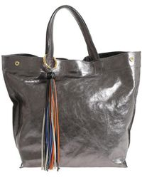 Almala - Gunmetal Grey Laminated Leather Antea Bag - Lyst