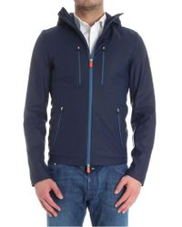 Save The Duck - Blue Nylon Jacket - Lyst