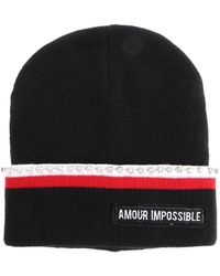 Pinko - Black Amour Impossible Beanie - Lyst