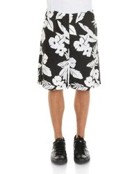 MSGM - Bermuda With Floral Print - Lyst