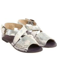 Punto Pigro - Leather And Calfhair Sandals - Lyst