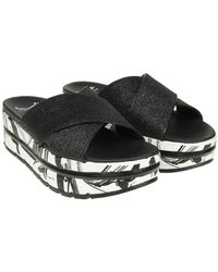 Voile Blanche - Black Suzy Sandals With Glitter - Lyst