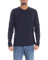 Aspesi - Blue Long-sleeved T-shirt - Lyst