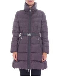 "Moncler - ""accenteur"" Dark Grey Down Jacket - Lyst"