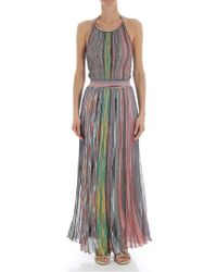 Missoni - Long Multicolor Lurex Dress - Lyst