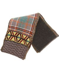 Antonio Marras - Taupe And Green Patchwork Effect Scarf - Lyst