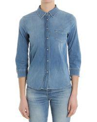 Jacob Cohen - Light Blue Denim Shirt - Lyst