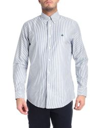 Brooks Brothers - Blue And Green Striped Button-down Shirt - Lyst