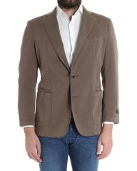 Brooks Brothers - Brown Cotton Jacket - Lyst