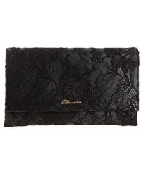 Blumarine - Leather And Lace Clutch - Lyst