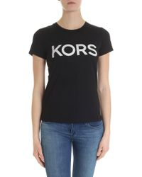 Michael Kors T-shirt In Black With Studs