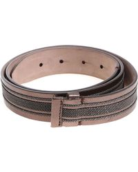Brunello Cucinelli - Leather Belt With Micro Beads - Lyst