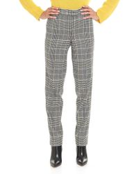 Ermanno Scervino - Prince Of Wales Black And White Trousers - Lyst
