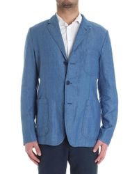 Aspesi - Light-blue Murakami Jacket - Lyst