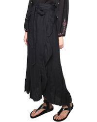 Étoile Isabel Marant - Black Alda Linen Skirt - Lyst