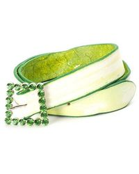 Orciani - Belt With Green-tinted Edge - Lyst