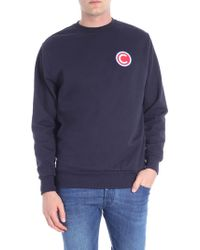 Colmar - Dark Blue Cotton Sweatshirt With Logo Patch - Lyst