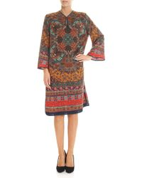 Etro - Multicolour Western Nouveau Printed Dress - Lyst