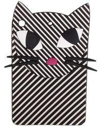 Lulu Guinness - Stripe Kooky Cat Ipad Mini Case - Lyst