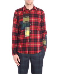 Ermanno Scervino - Checked Red Shirt - Lyst