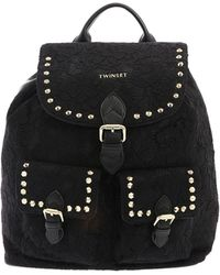 Twin Set - Black Lace Backpack - Lyst