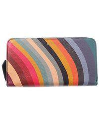 Paul Smith - Multicolor Swirl Striped Wallet - Lyst