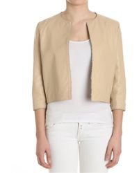 Ottod'Ame - Beige Leather Jacket - Lyst