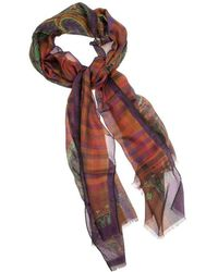 Etro - Modal And Cashmere Scarf - Lyst
