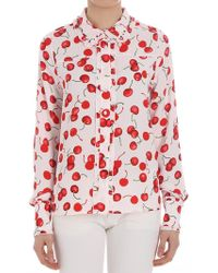Essentiel - Pink Cherry Patterned Shirt - Lyst
