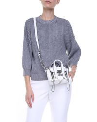3.1 Phillip Lim - Grey Wool And Mohair Pullover - Lyst