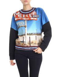 N°21 - Black Double Fabric Motel Sweatshirt - Lyst