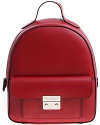 Emporio Armani - Red Backpack With Black Edges - Lyst