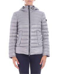 "Peuterey - ""utah"" Grey Down Jacket - Lyst"
