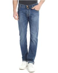 Jacob Cohen - Blue Faded Denim Jeans - Lyst