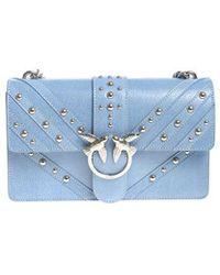 Pinko - Light-blue Love Studs Bag - Lyst
