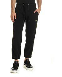 Gcds - Black Fleece Trousers - Lyst