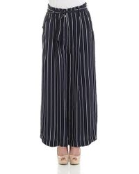 Ottod'Ame - Blue Striped Trousers - Lyst