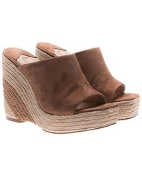 Paloma Barceló - Brown Mamey Wedge Sandals - Lyst