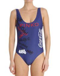 Pinko - Blue Zafferano Coca-cola Swimsuit - Lyst