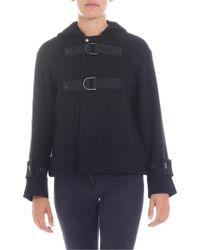 Zucca - Short Black Hooded Coat - Lyst
