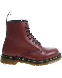 "Dr. Martens - Anfibio ""1460 Smooth"" rosso - Lyst"