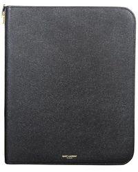 Saint Laurent - Leather Tablet Case - Lyst